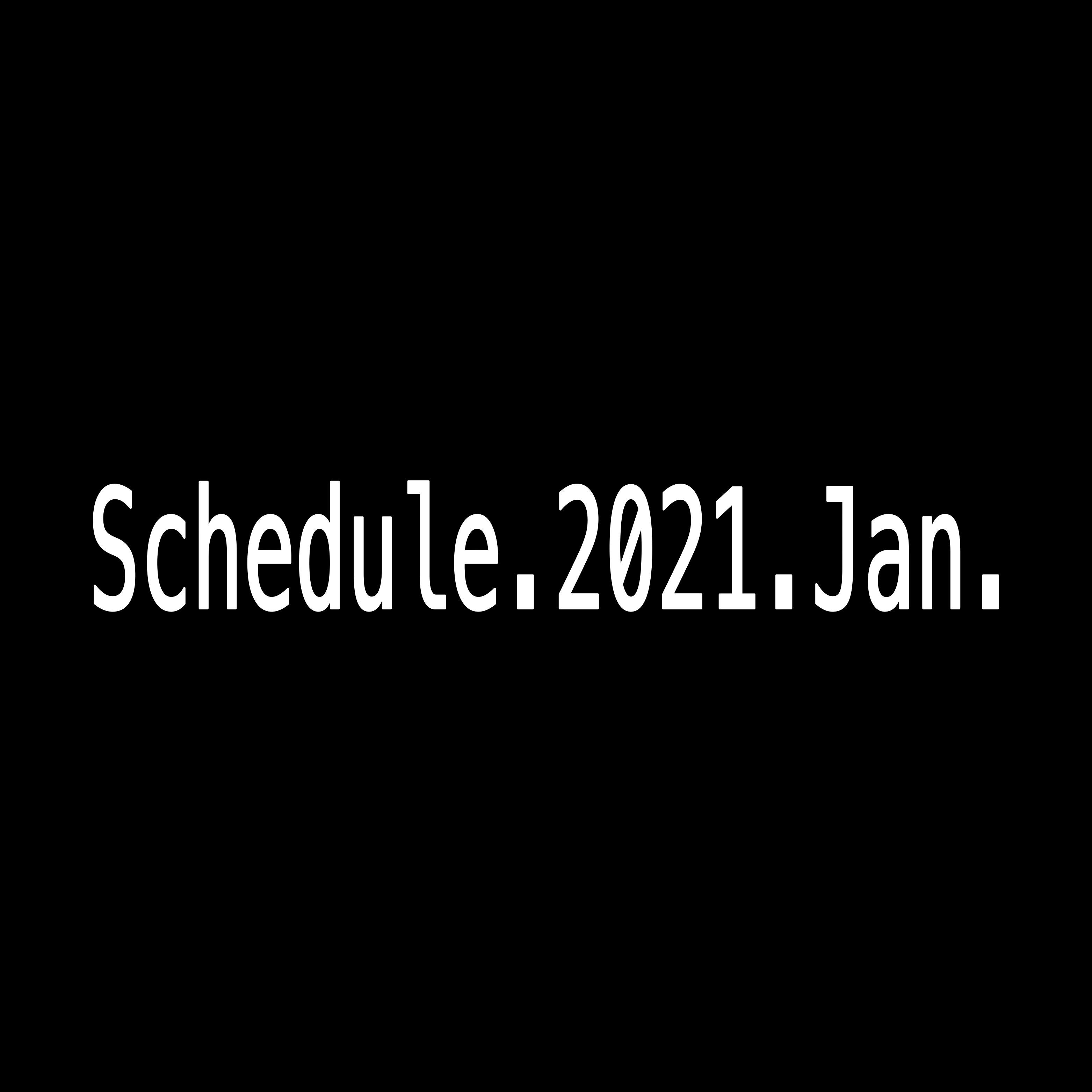2021年1月Schedule