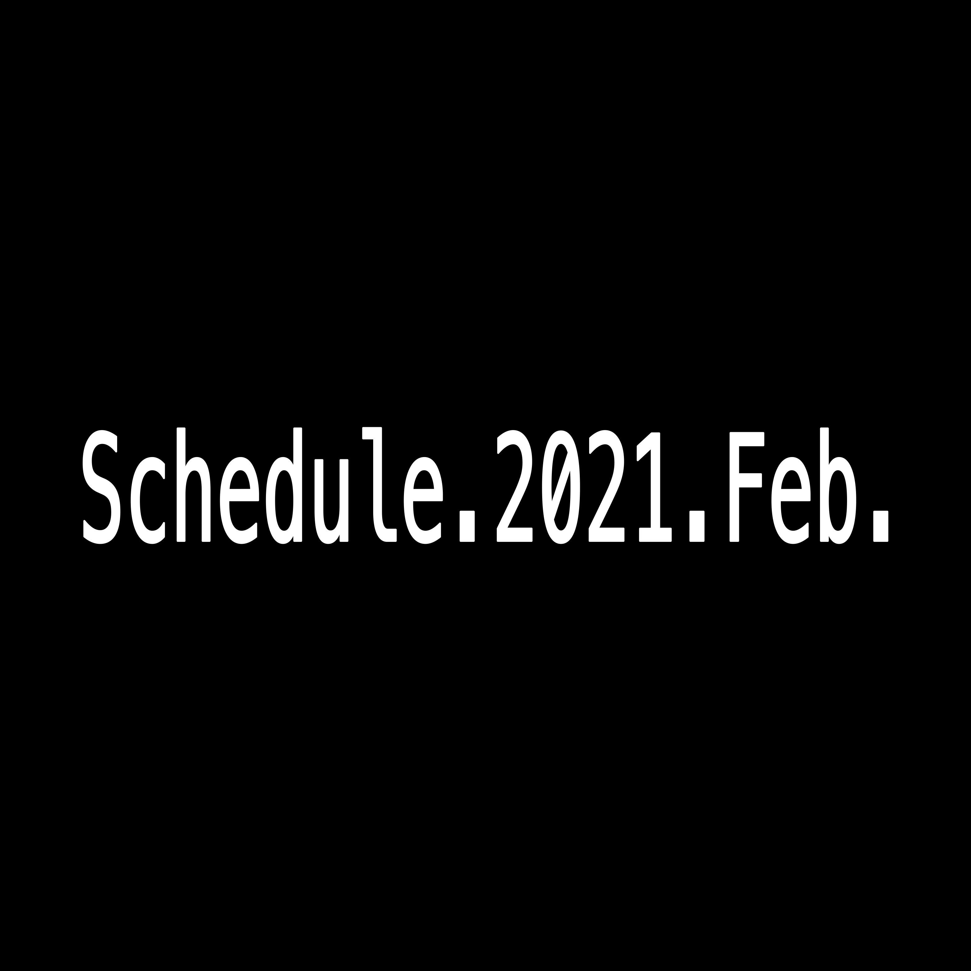 2021年2月Schedule